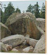 Bluff Lake Ca Boulders 3 Wood Print