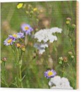 Bluff Lake Ca Wild Flowers 6 Wood Print