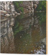 Bluff Reflections Buffalo River Wood Print by Timothy Jones