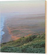 Bluffs And South Beach Point Reyes Wood Print