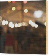 Blurred Delhi Street Scene At Night Wood Print