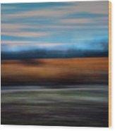 Blurred Field Wood Print