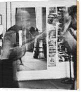 Blurred Training Wood Print