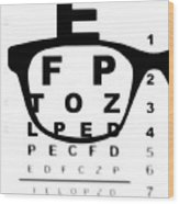 Blurry Eye Test Chart Wood Print