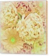 Blush Floral Bouquet Wood Print