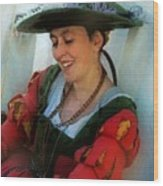 Blushing Bavarian Bridesmaid Wood Print