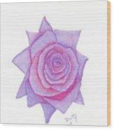 Blushing Blue Wood Print