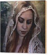 Blushing Bride Wood Print