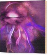 Blushing Nebula Wood Print