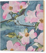 Blushing Prettily Wood Print