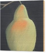 Blushing Yellow Pear Wood Print