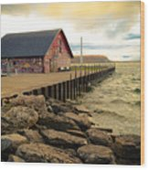 Blustery Day At Anderson Barn Wood Print