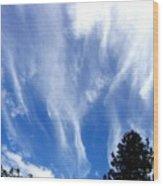 Blustery Sky Wood Print