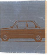 Bmw 2002 Orange Wood Print