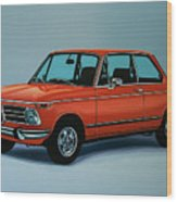 Bmw 2002 1968 Painting Wood Print
