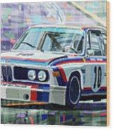Bmw 3 0 Csl 1st Spa 24hrs 1973 Quester Hezemans Wood Print