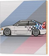 Bmw 3 Series E36 M3 Gtr Coupe Touring Car Wood Print
