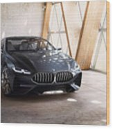 Bmw Concept 8 Series 4k Wood Print