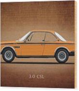 Bmw Csl 1972 Wood Print