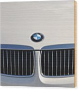 Bmw Grille White Wood Print