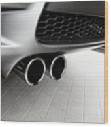Bmw M3 Exhaust  Wood Print by Aaron Berg