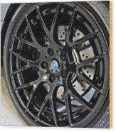Bmw M3 Wheel Wood Print by Aaron Berg
