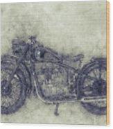 Bmw R32 - 1919 - Motorcycle Poster 1 - Automotive Art Wood Print
