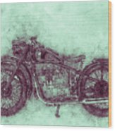 Bmw R32 - 1919 - Motorcycle Poster 3 - Automotive Art Wood Print