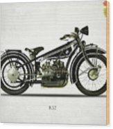 The R32 Motorcycle Wood Print