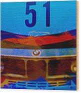 Bmw Racing Colors Wood Print by Naxart Studio