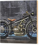 Bmw Vintage Motorcycle Wood Print