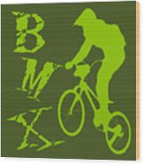 BMX Wood Print