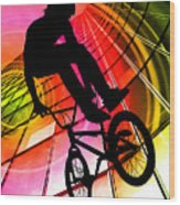 Bmx In Lines And Circles Wood Print