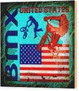 Bmx United States Wood Print