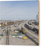Bnsf Northtown Yard 4 Wood Print
