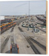 Bnsf Northtown Yard 6 Wood Print