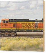 Bnsf Railway Engine Wood Print