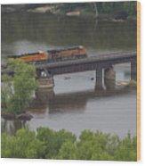 Bnsf Train 6686 A Wood Print