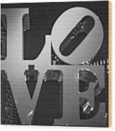 Bnw Philly Love 0218b Wood Print