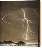 Bo Trek Lightning Art Wood Print