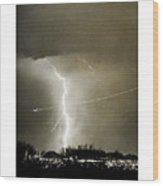 Bo Trek Lightning Bw Fine Art Poster Print Wood Print