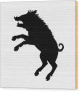 Boar Wood Print