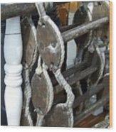 Boarding Ladder Wood Print