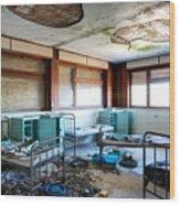 Boarding School Nightmare - Abandoned Building Wood Print