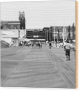 Boardwalk Blur Wood Print