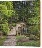 Boardwalk Bridge Maymont Japanese Garden Wood Print