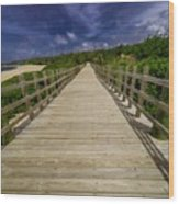Boardwalk In Color Wood Print