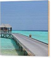 Boardwalk In Paradise Wood Print