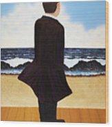Boardwalk Man Wood Print