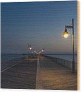 Boardwalk Night.  Wood Print
